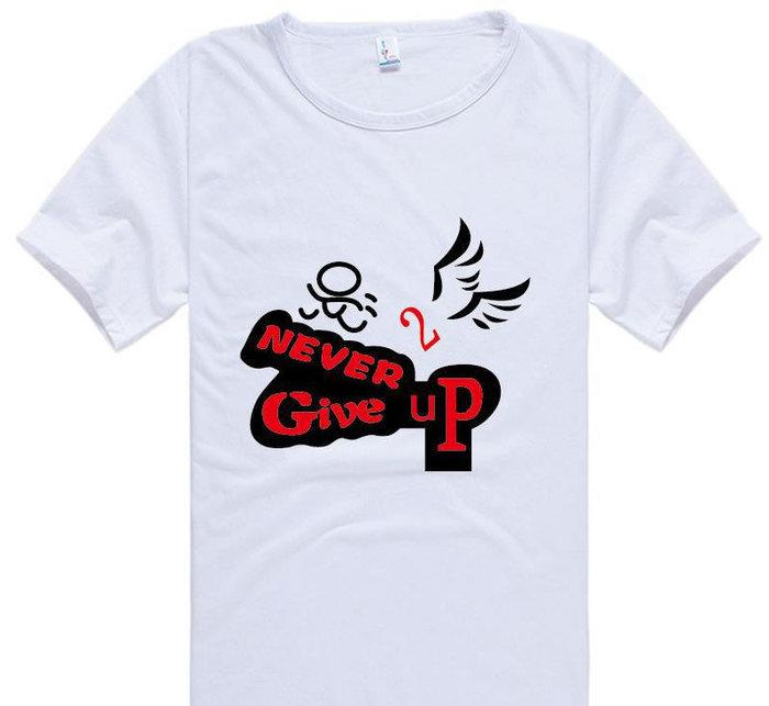 单色印花T恤